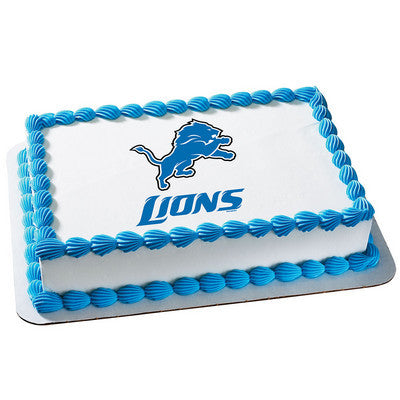 NFL Detroit Lions Photo Cake