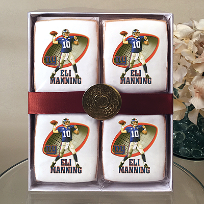 NFL Players Eli Manning Cookie Gift Box