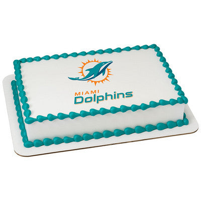 NFL Miami Dolphins Photo Cake