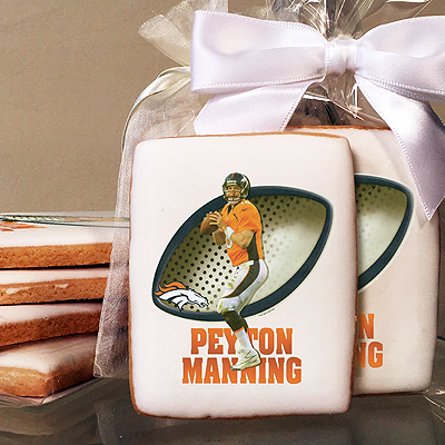 NFL Players Peyton Manning Photo Cookies