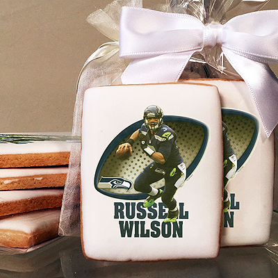 NFL Players Russell Wilson Photo Cookies