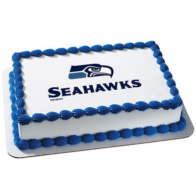 NFL Seattle Seahawks Photo Cake