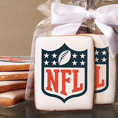 NFL Shield Photo Cookies