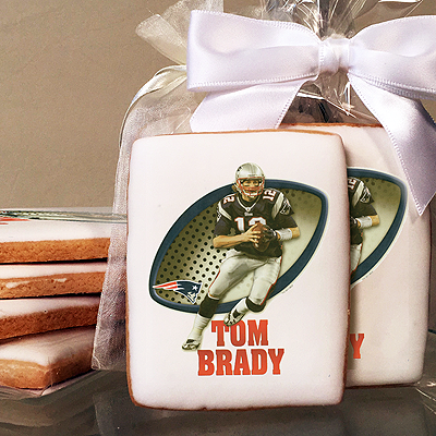 NFL Players Tom Brady Photo Cookies
