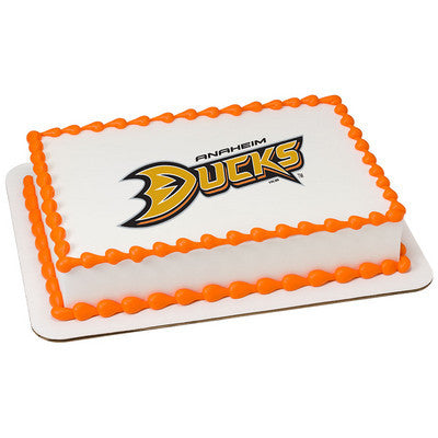 NHL Anaheim Ducks Photo Cake