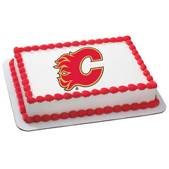 NHL Calgary Flames Photo Cake
