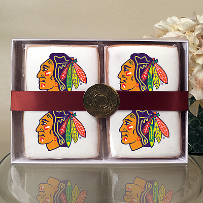NHL Chicago Blackhawks Cookie Gift Box