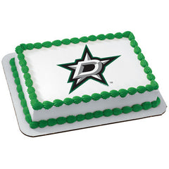 NHL Dallas Stars Photo Cake
