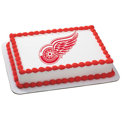 NHL Detroit Red Wings Photo Cake