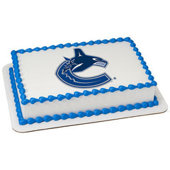 NHL Vancouver Canucks Photo Cake