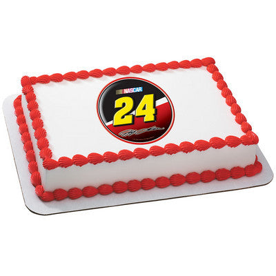 NASCAR Jeff Gordon #24 Logo Photo Cake