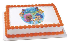 BUBBLE GUPPIES GIL & MOLLY Photo Cake