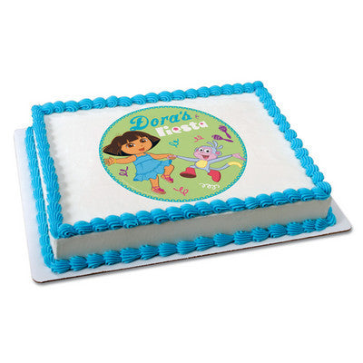 DORA EXPLORER FIESTA Photo Cake