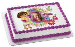 Dora the Explorer & Boots Fiesta Photo Cake