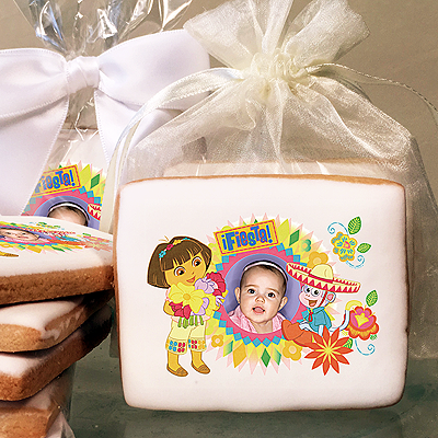 Dora the Explorer & Boots Fiesta Photo Cookies