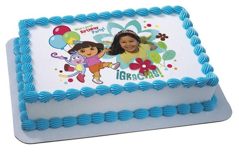 Fine Nick Jr Dora The Explorer Birthday Party Custom Photo Cake Funny Birthday Cards Online Alyptdamsfinfo