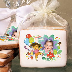 Dora the Explorer Birthday Party Photo Cookies