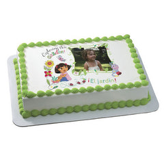 DORA EXPLORER EXPLORING THE GARDEN  Photo Cake