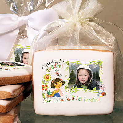 DORA EXPLORER EXPLORING THE GARDEN  Photo Cookies