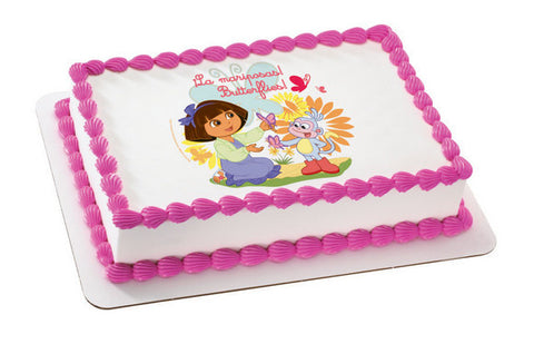 Dora the Explorer Butterflies Photo Cake