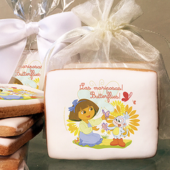 Dora the Explorer Butterflies Photo Cookies