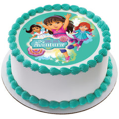 Dora the Explorer Time for Aventura  Photo Cake