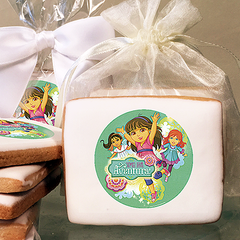Dora the Explorer Time for Aventura  Photo Cookies