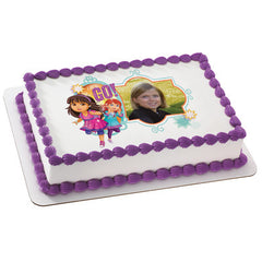 Dora & Friends Let's Go Photo Cake