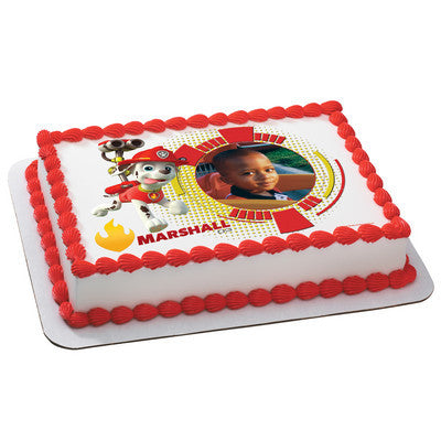 PAW Patrol Marshall Photo Cake
