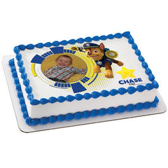 PAW Patrol Chase Photo Cake