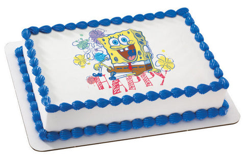 SpongeBob SquarePants Happy Photo Cake