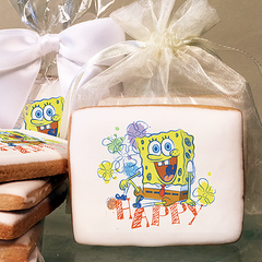 SpongeBob SquarePants Happy Photo Cookies