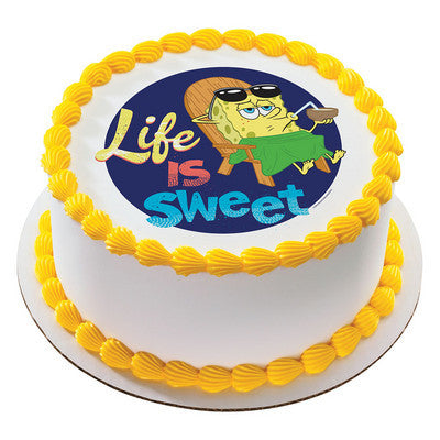 SpongeBob SquarePants Life is Sweet  Photo Cake