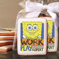 SpongeBob SquarePants Work and Play  Photo Cookies