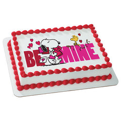 Peanuts Be Mine Photo Cake
