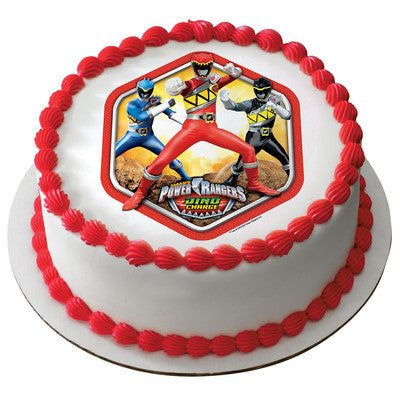 Power Rangers Dino Charge Prehistoric  Photo Cake