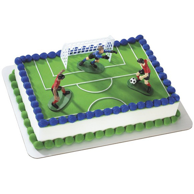 Soccer Kick Off Boys Toy Cake
