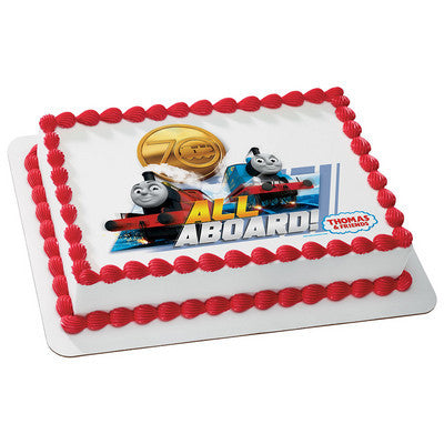 Thomas & Friends 70th Anniversary All Aboard! Photo Cake