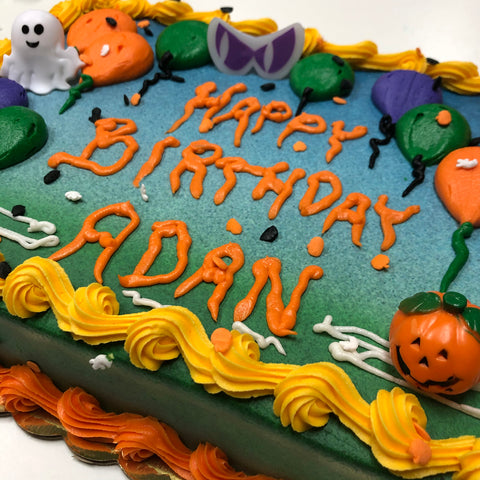 Buttercream Balloons and Halloween Pics Cake