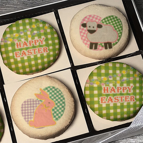 Easter Gingham Design Cookie Emblem Gift Box