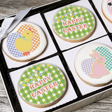 Easter Gingham Design Cookie Greeting Gift Box
