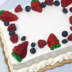 Fresh Berries & Cream Cake