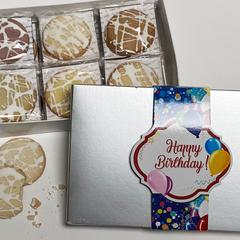 Happy Birthday Gourmet Shortbread Cookie Gift Box