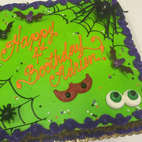 Buttercream Spooky Eyes and Giant Spider Halloween Cake