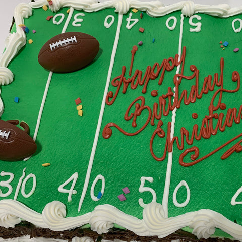 Sports Field and Rings Cake Design