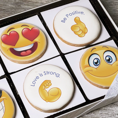 Stay Positive Emoji Cookie Gift Box