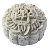 Black Sesame and Mung Bean Snowy Mooncake