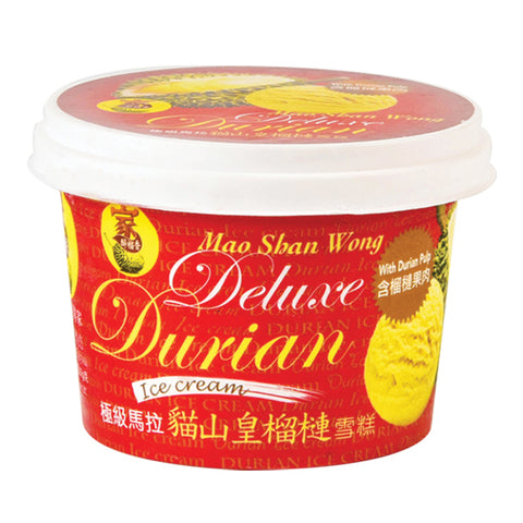 Mao Shan Wong Deluxe Durian Ice Cream With Durian Pulp