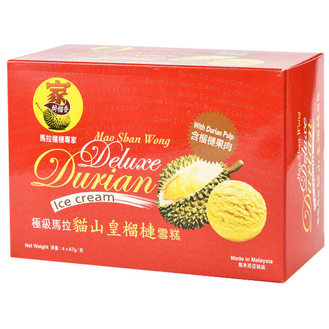 Mao Shan Wong Durian Ice Cream Box of 4