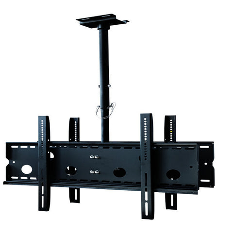"Adjustable universal ceiling mount or two(2) large flat panel displays (32"" - 65"") up to 350 lbs"